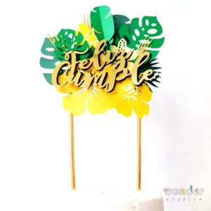 Topper para pastel Tropical Glam