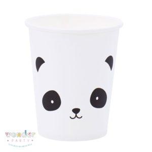 Vasos de papel Osito Panda