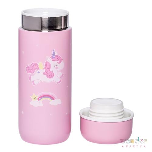 Botella de acero inoxidable térmica unicornio. Ideal para niñas enamoradas de los unicornios. Para llevar al cole para niños, mantiene las bebidas frias y calientes por 12 horas para los paseos o excursiones de los pequeños