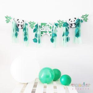 Guirnalda de papel Oso Panda