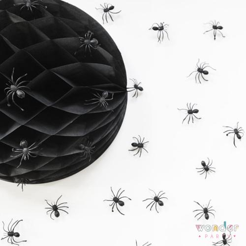 Set bolas nido de abeja negro dos tamaños