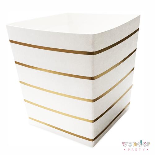 Cajas para palomitas rayas doradas