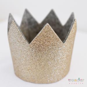 Corona glitter dorada para fiestas