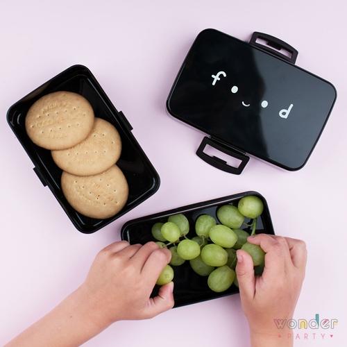 Fiambrera para almuerzo niños negra Food Fiambrera para almuerzo niños Nube. Lonchera a little lovely company caja para almuerzo o comida cloud