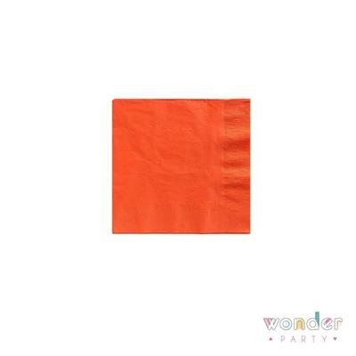 Servilletas de papel naranja lisas