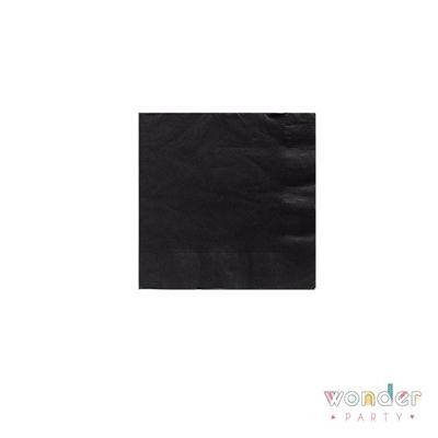 Servilletas de papel negras lisas
