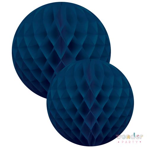 Set bolas nido de abeja azul dos tamaños