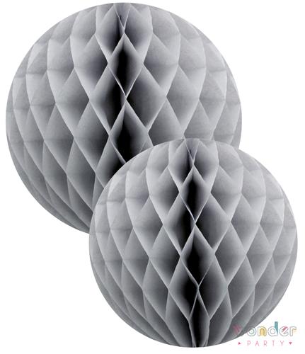 Set bolas nido de abeja gris dos tamaños