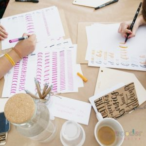 Taller Brush Lettering- 9 dic 2018 - Pineda de Mar