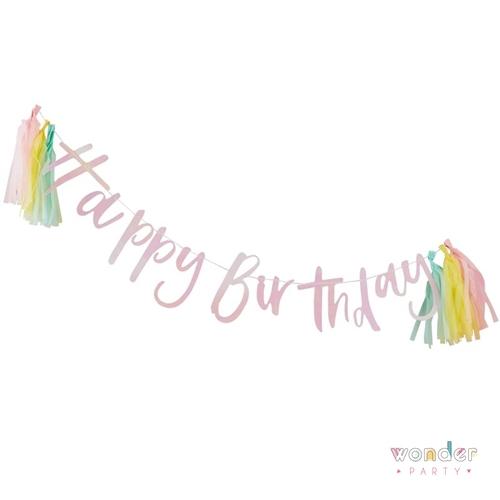 Guirnalda Happy Birthday con tassel