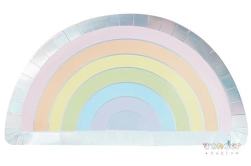 Platos arcoíris iridiscente y tonos pastel wonder party bcn