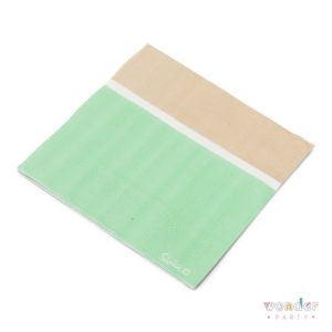 Servilletas verde mint, blanco y kraft