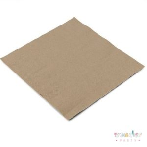 Servilletas papel kraft eco para fiestas