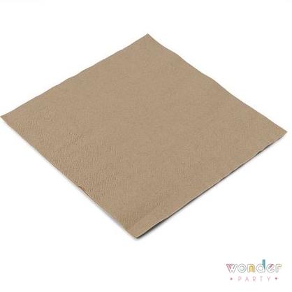 Servilletas papel kraft eco para fiestas