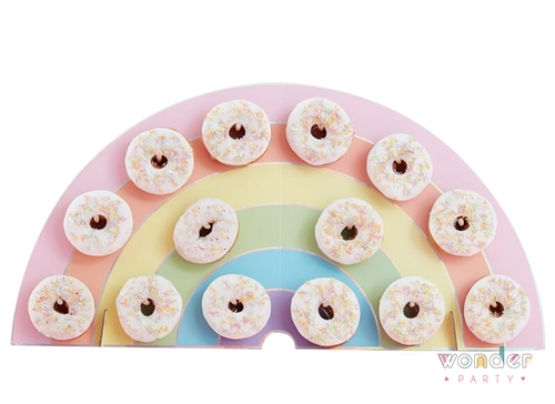 Soporte stand para donuts arcoíris donut wall pared para donuts
