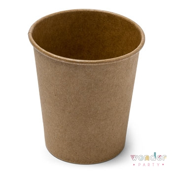 Vasos de papel kraft eco para fiestas
