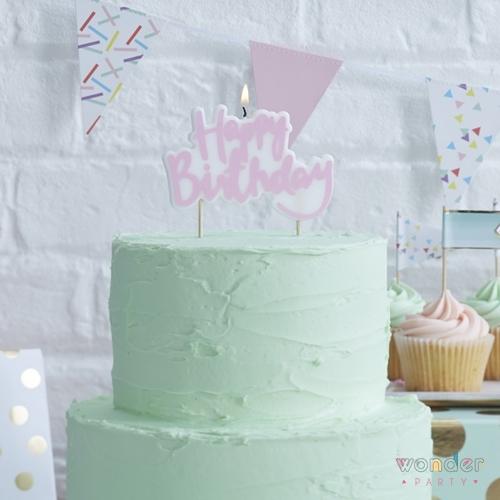 Vela Happy Birthday lila