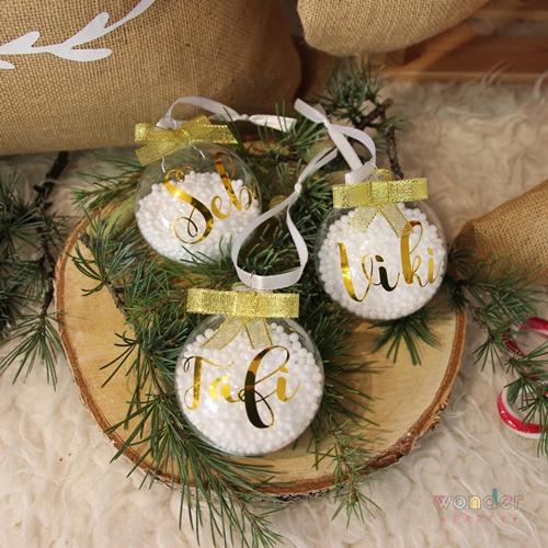 La bola navideña cristal personalizada