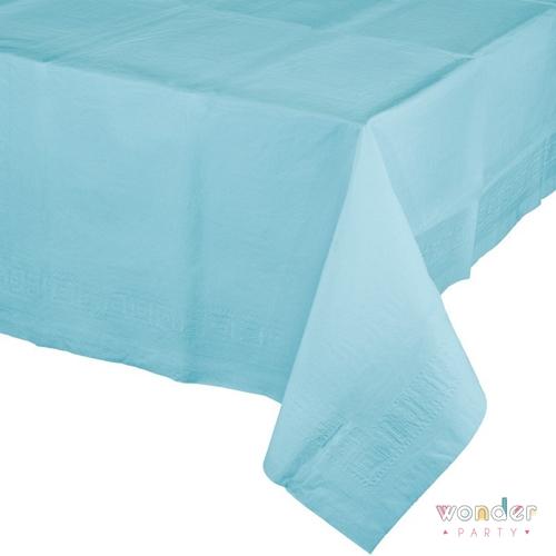 mantel de papel grande azul claro