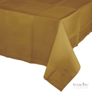 Mantel de papel grande dorado