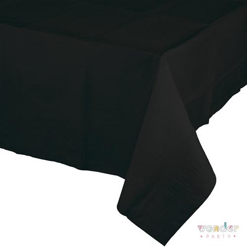 mantel de papel grande negro