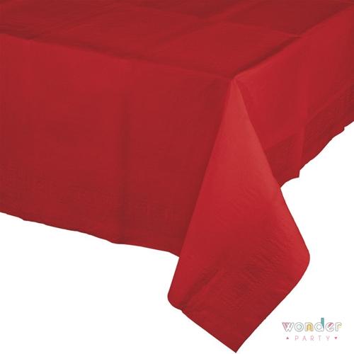 El mantel de papel grande rojo