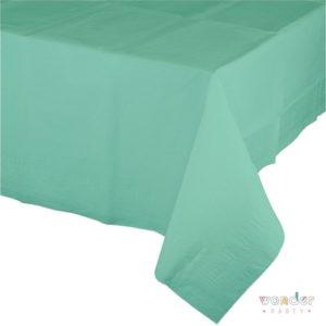 Mantel de papel grande verde mint