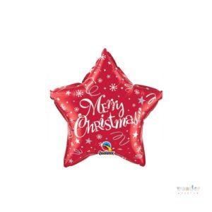 Globo foil estrella Merry Christmas