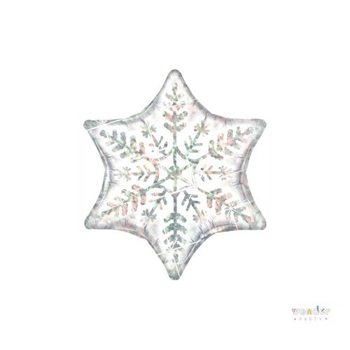 Globo foil estrella copo de nieve