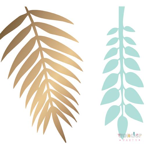 Hojas tropicales para decoración - WonderParty BCN