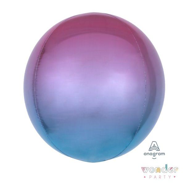 Globo Orbit degradé rosa, morado y azul