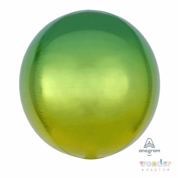 Globo Orbit degradé verde amarillo