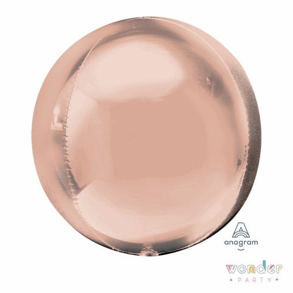 Globo Orbit esfera oro rosa