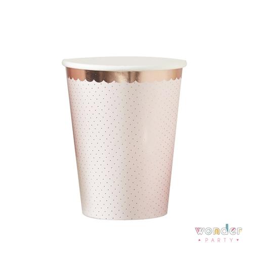 Vasos flower garden oro rosa