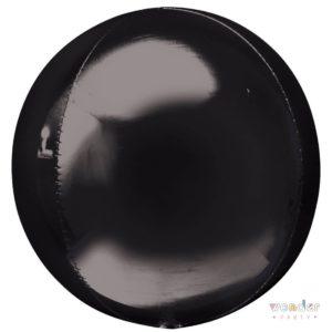 Globo Orbz negro metalizado foil