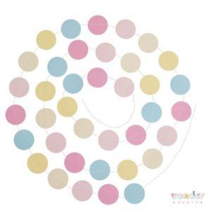 Guirnalda círculos colores pastel