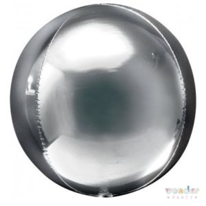 Globo Orbz plata metalizado foil