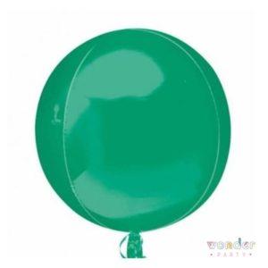 Globo Orbit verde metalizado