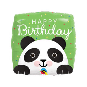 Globo Foil Happy Birthday Oso Panda square