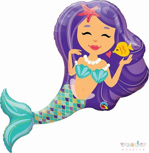 Globo Foil Sirena 97cm-Wonder Party Bcn, costa brava, maresme, fiesta