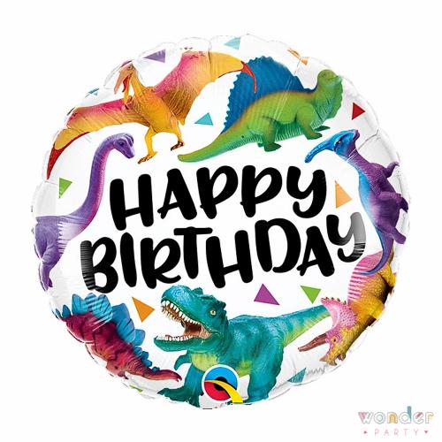 Globo Foil Happy Birthday Dinosaurios