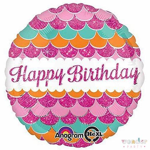Globo Foil Happy Birthday Escamas Rosas Balloon, Barcelona, Celebraciones, Cumpleaños, Decoracion, Eventos, Fiesta, Foil, Girona, Globo, Helio, Maresme, Party, Wonder, happy birthday