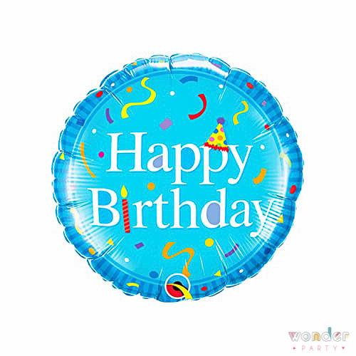 Globo Happy Birthday Azul de FoilBalloon, Barcelona, Celebraciones, Decoracion, Eventos, Feliz Cumpleaños, Fiesta, Foil, Girona, Globo, Happy Birthday, Helio, Maresme, Party, Wonder