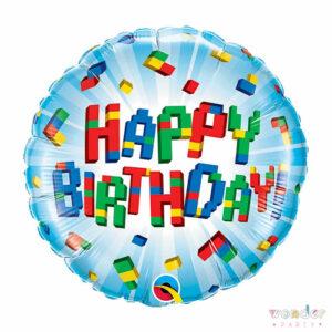 Globo Happy Birthday Lego Foil, Balloon, Barcelona, Celebraciones, Cumpleaños, Decoracion, Eventos, Fiesta, Foil, Girona, Globo, Helio, Maresme, Party, Wonder, lego, costa brava