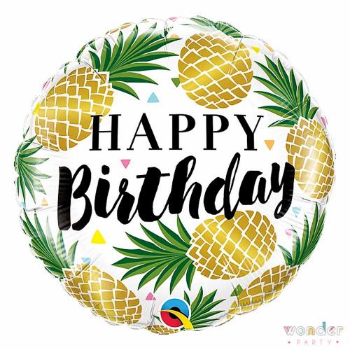 Globo Foil Happy Birthday Piñas Balloon, Barcelona, Celebraciones, Decoracion, Eventos, Feliz Cumpleaños, Fiesta, Foil, Girona, Globo, Happy Birthday, Helio, Maresme, Party, piñas, Wonder
