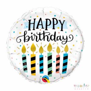 Globo Foil Happy Birthday Velas Balloon, Barcelona, Celebraciones, Decoracion, Eventos, Feliz Cumpleaños, Fiesta, Foil, Girona, Globo, Happy Birthday, Helio, Maresme, Party, Wonder