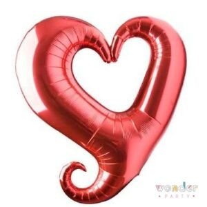 globo foil rojo forma de corazon shape grabo
