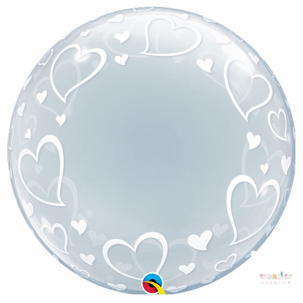 Globo Bubble Stylish Hearts Corazones