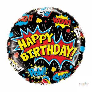 Globo Foil Happy Birthday super heroes