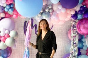 wonder party decoraciones con globos
